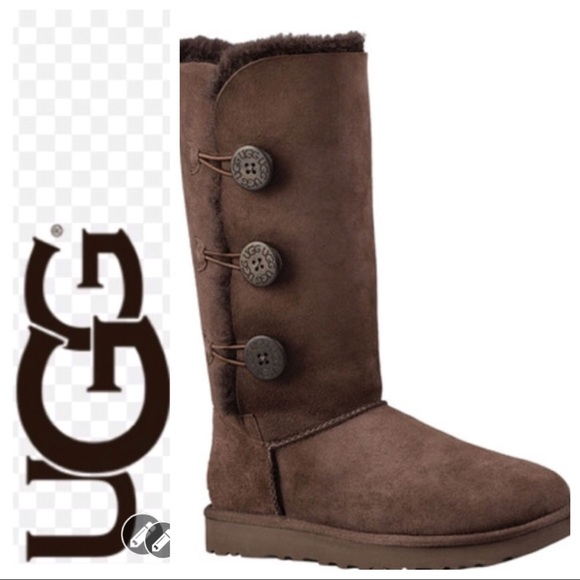 20ae9fb1481 💕SALE💕 UGG Brown Bailey Button Triplet II Boots